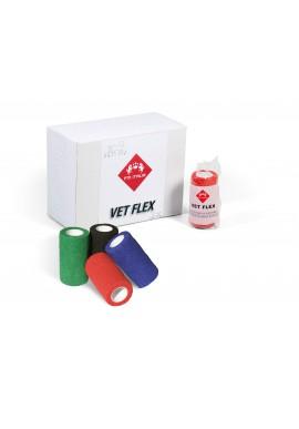 VET FLEX fasce coesive flessibili (nero verde rosso blu giallo bianco e fluorescenti) Fascia 10 cm x 4,5 m
