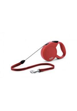 flexi Guinzaglio Classico Basic S, max. 12kg, rosso