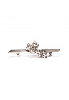 Spilla in metallo placcata argento