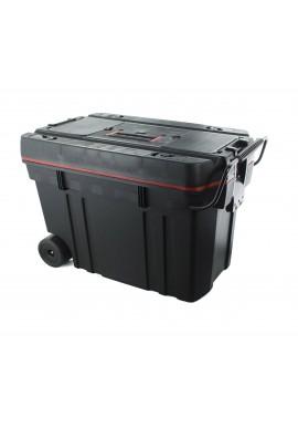 BAULE PLASTICA TROLLEY  CON 2 RUOTE  MEDIO 610X375X415